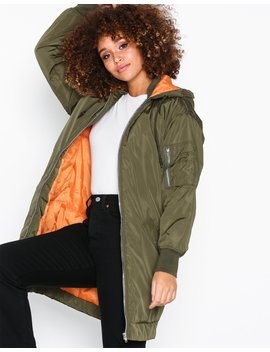 Longline Hybrid Parka Jacket by Missguided