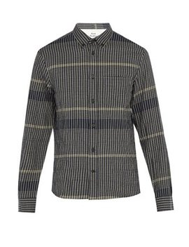 Checked Stretch Cotton Shirt by Acne Studios