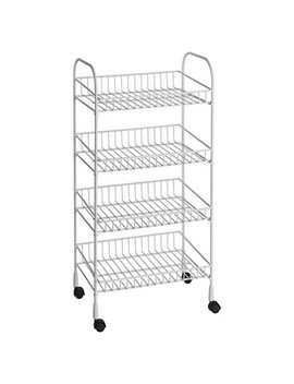 Closet Maid 4 Tier Wire Utility Cart   White by Closet Maid
