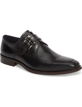 Merlot Single Buckle Monk Shoe by Jump