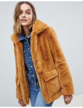 Barney's Originals Faux Fur Coat by Coat