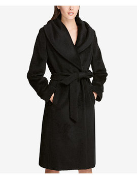 Belted Wrap Coat, Created For Macy's by Dkny