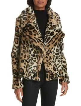 Cole Faux Fur Cheetah Jacket by Milly