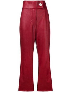 Cropped High Waisted Trousers by Sara Battaglia