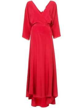 Long Sleeve Floor Length Wrap Dress by Dvf Diane Von Furstenberg