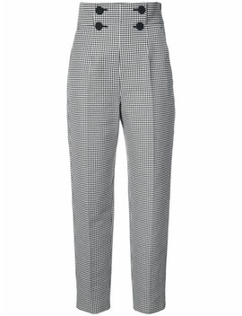 High Waisted Checkered Trousers by Sara Battaglia