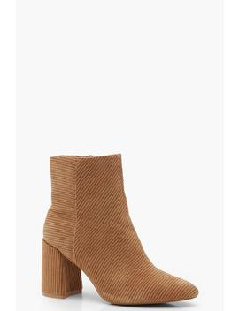Cord Effect Pointed Shoe Boots by Boohoo
