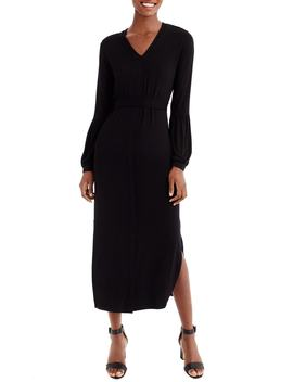 For J.Crew Bubble Sleeve Jersey Maxi Dress by Universal Standard