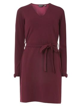 Berry Bow Cuff Tie Waist Shift Dress by Dorothy Perkins