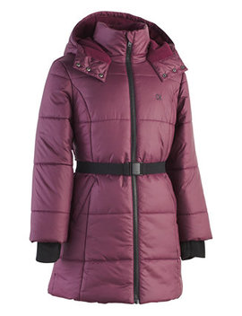 Toddler Girls Aspen Hooded Belted Puffer Jacket by Calvin Klein