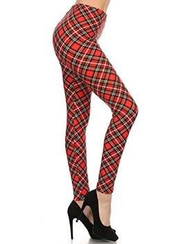 Leggings Depot Women's Ultra Buttery Soft Christmas Print Fashion Leggings by Leggings+Depot