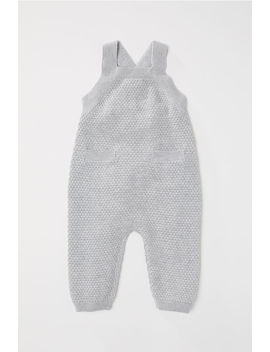 Textured Knit Dungarees by H&M