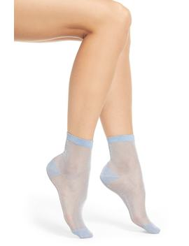 X Atlantic Pacific Shimmer Ankle Socks by Halogen®
