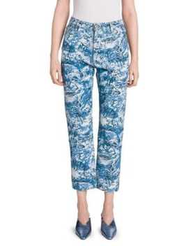 Hi Rise Tapestry Printed Jeans by Off White
