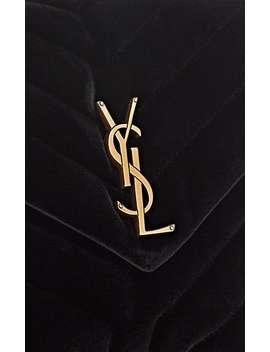 Monogram Loulou Small Velvet Shoulder Bag by Saint Laurent