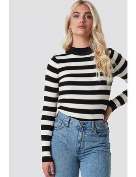 Blocked Knit Sweater by Trendyol