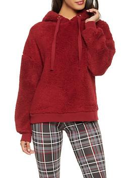 Hooded Sherpa Sweatshirt by Rainbow