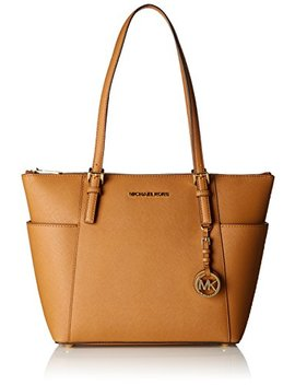 Michael By Michael Kors Jet Set Top Zip Tote Saffiano Leather Acorn Women by Amazon