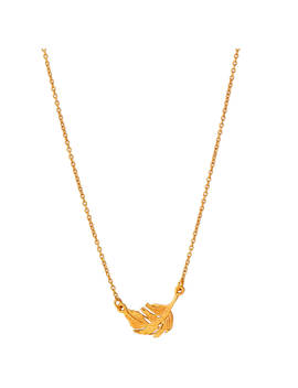 Alex Monroe Little Feather Necklace, Gold by Alex Monroe