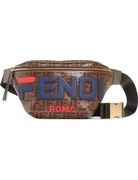 X Fila Logo Belt Bag by Fendi