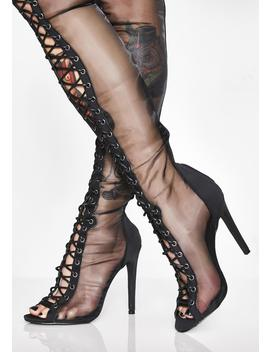 Lustful Envy Lace Up Boots by Chase Chloe