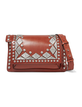 Maskia Embellished Leather Shoulder Bag by Isabel Marant