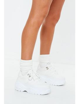 White Super Chunky Sole Trainers by Missguided