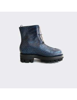 Alyx Tank Boot With D Ring   Navy Croc by Garmentory