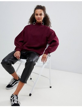 Bershka High Neck Oversized Sweater by Bershka