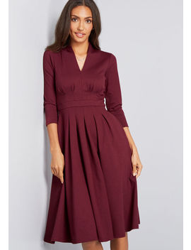 Structured Swing Ponte Knit Dress by Modcloth