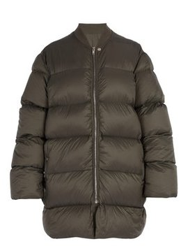 Flight Necked Duvet Jacket by Rick Owens