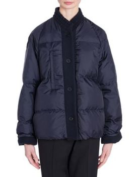 Contrast Button Puffer Coat by Jil Sander