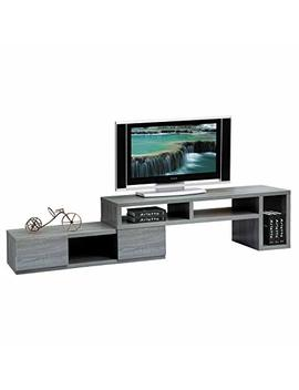 "Techni Mobili Gray Modern Adjustable Tv Stand Console For Tv's Up To 65""   Assemble In 3 Different Configurations by Techni Mobili"