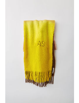 Two Tone Scarf Brown/Almond/Yellow by Acne Studios