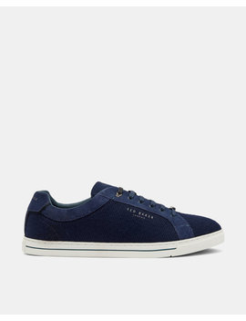 Suede And Wool Derby Trainers by Ted Baker