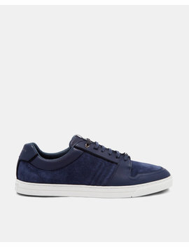 Leather And Suede Trainers by Ted Baker