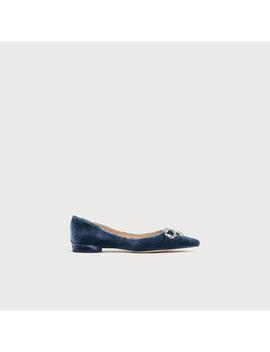 Elin Blue Velvet Flats by L.K.Bennett