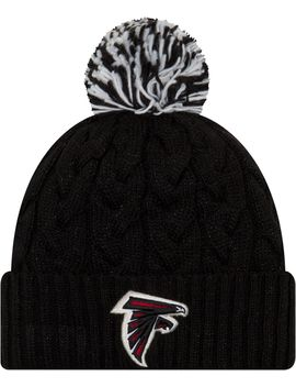 New Era Women's Atlanta Falcons Cozy Cable Black Pom Knit by New Era