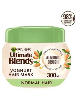 Garnier Ultimate Blends Almond Milk & Agave Sap Normal Hair Yoghurt Mask 300ml by Garnier Ultimate Blends