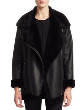 Lamb & Leather Moto Jacket by The Fur Salon
