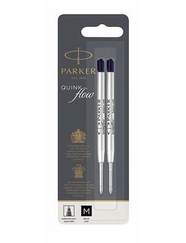 Parker Quinkflow Ball Pen Refill Medium Nib Black, Pack Of 2 by Parker
