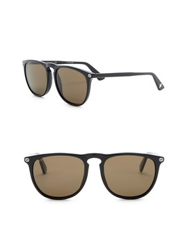 53mm Rounded Sunglasses by Gucci