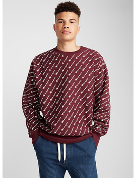 Diagonal Typo Logo Sweatshirt by Champion