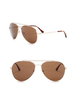 Indiana Polarized 58mm Aviator Sunglasses by Tom Ford