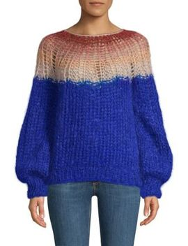 Gradient Mohair Blend Sweater by Maiami