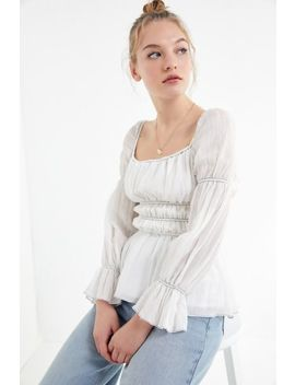 The East Order Elle Smocked Square Neck Top by The East Order