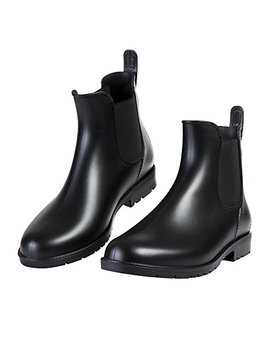 Asgard Women's Short Rain Boots Waterproof Slip On Ankel Chelsea Booties by Asgard