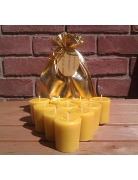 10 100 Percents Pure English Beeswax 15 Hr Votive Candles 5cm X 4.5cm Unscented by Etsy