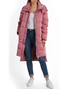 Insulated Step Hem Puffer Coat by Avec Les Filles