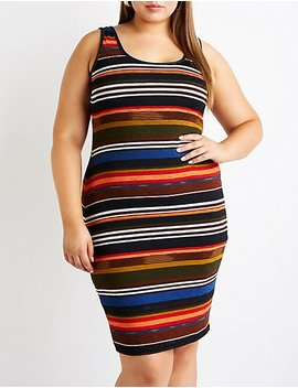 Plus Size Striped Knit Dress by Charlotte Russe